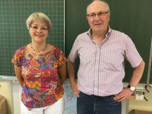 Marie Santen, Spenderin und Hartmut Strehlau, Beisitzer Förderverein