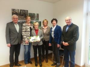 Von links: Franz-Josef Butterweck ,Vera Butterweck-Kruse, Heide Heyen-Strehlau, Maria Butterweck, Angela Hebbelmann, Hartmut Strehlau
