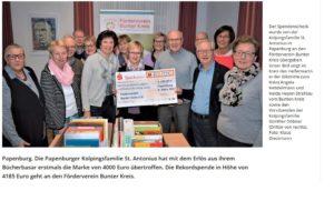Spendenübergabe Kolping - Bücherbasar
