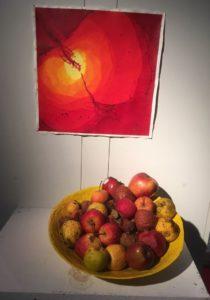 Apfel im Quadrat