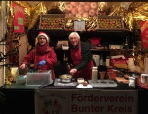 Unsere leckeren Bratäpfel auf dem Weihnachtsmarkt